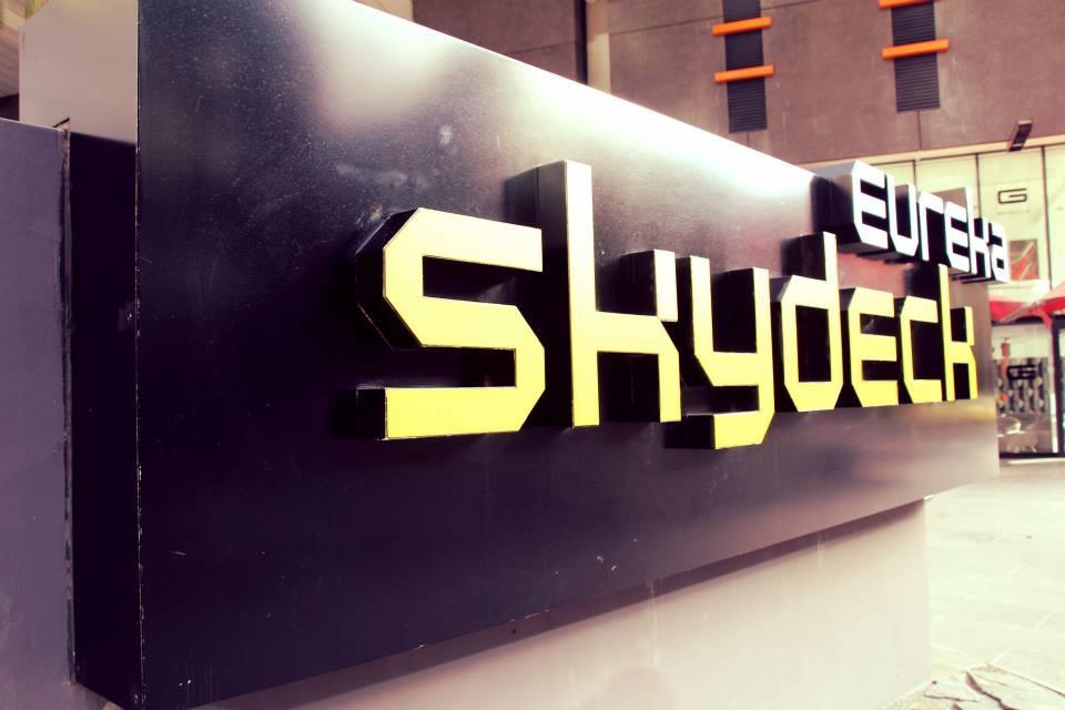 Eureka Skydeck sign, Melbourne