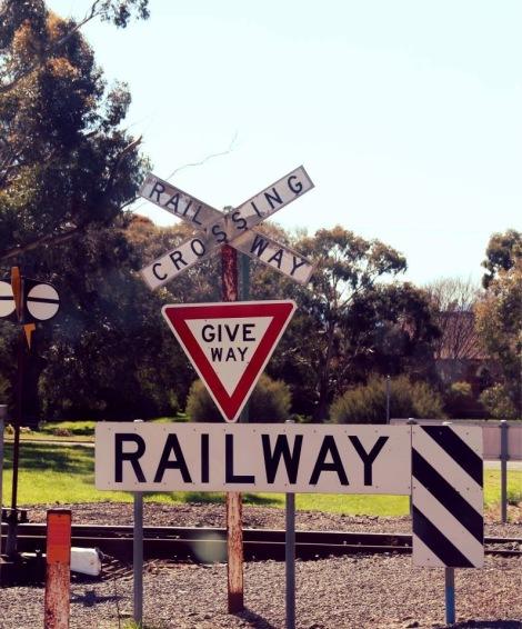 Railway crossing, Australia