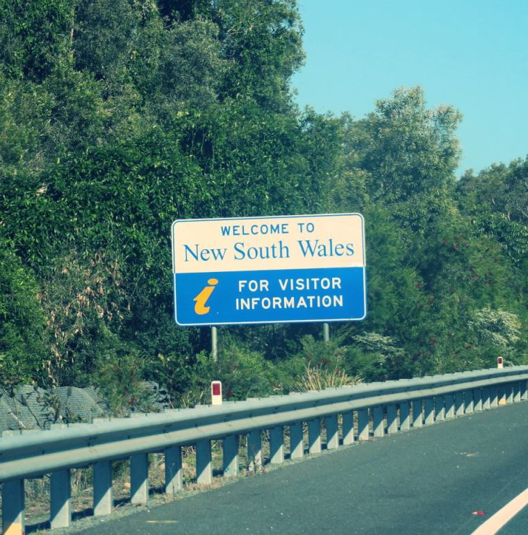 Welcome to New South Wales, Australia