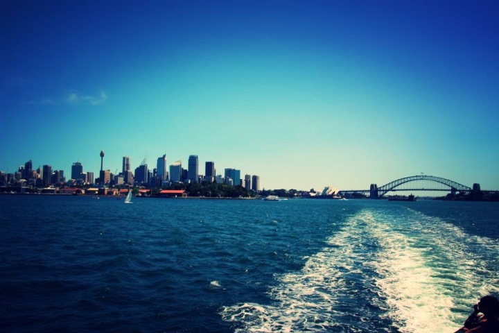 View of Sydney from the ferry to Manly