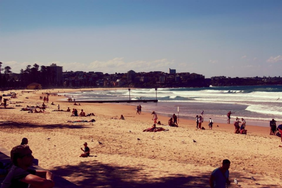 Quiet day on Manly Beach, Australia