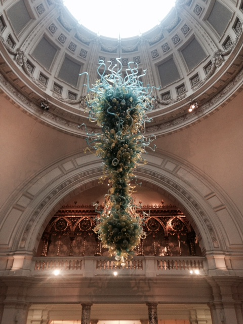 Chandelier at The V&A, London