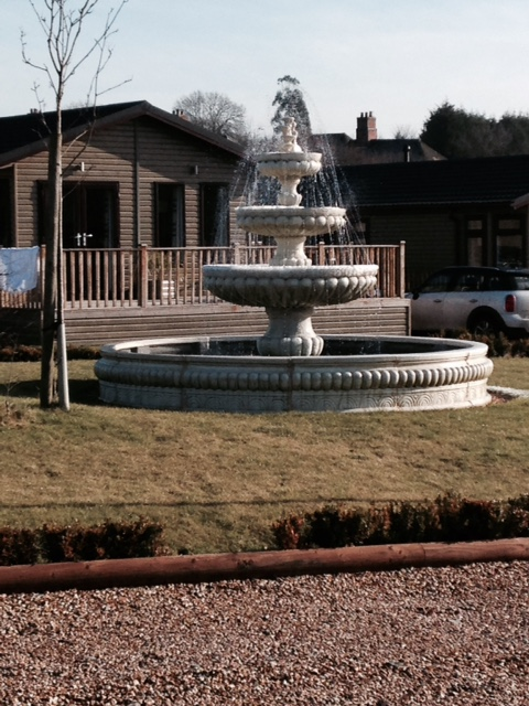 Fountain at Ashby Woulds Lodges, Derbyshire