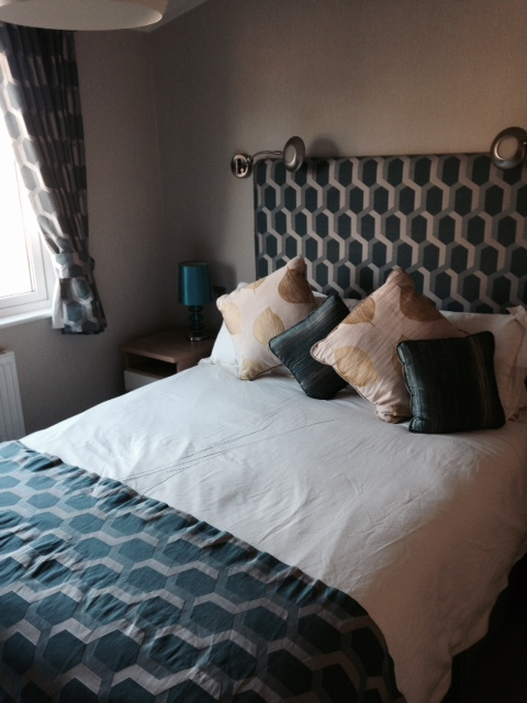 Master bedroom at Ashby Woulds Lodges, Derbyshire