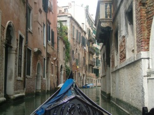 Gondola ride on the canals of Venice, Italy