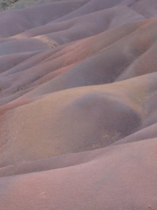 The seven coloured sands of Chamarel, Mauritius