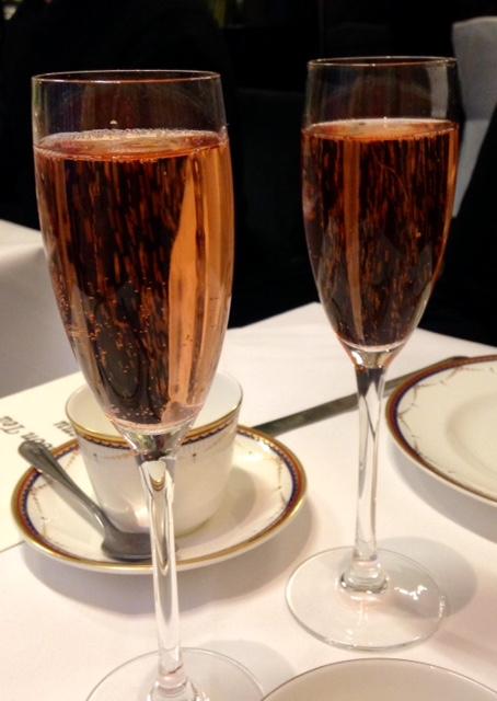 Champagne at Waldorf Hilton, London