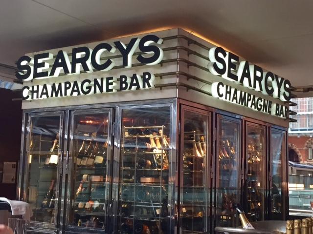 Fridges at Searcys Champagne Bar, St Pancras