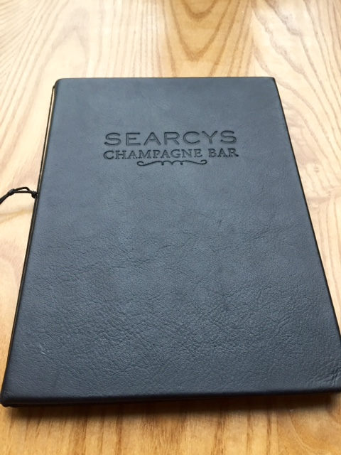Menu at Searcys Champagne Bar, St Pancras