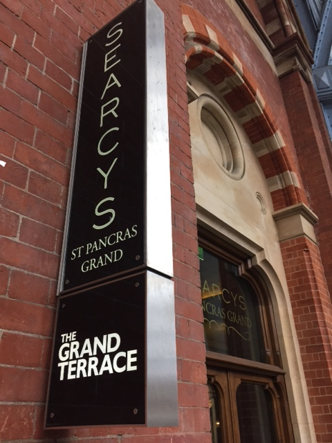 The Grand Terrace Searcys Champagne Bar, St Pancras