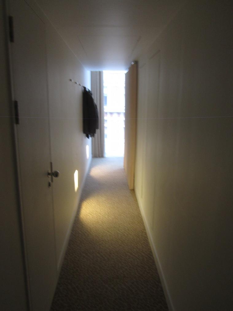 Corridor in room, St Martins Lane Hotel, London