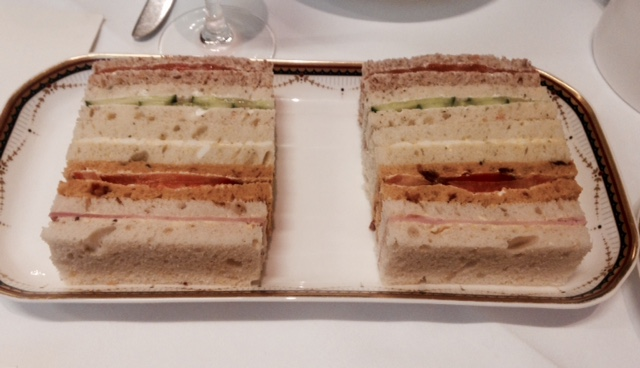 Sandwiches at Waldorf Hilton, London