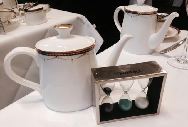 Tea timer at Waldorf Hilton, London