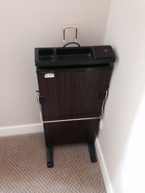 Trouserpress in room, Coniston Hotel, Yorkshire