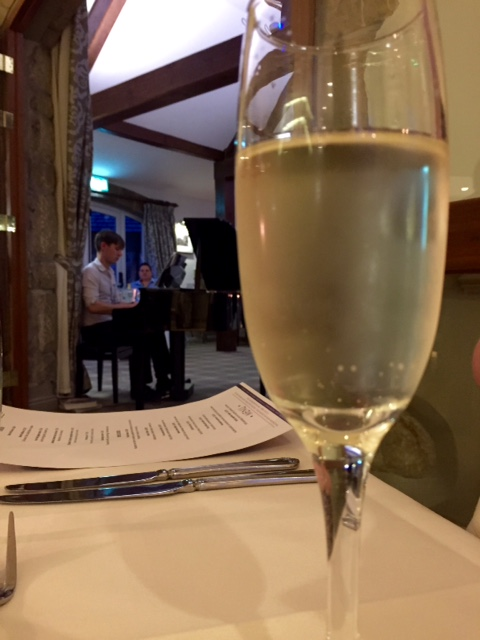 Champagne & pianist at Coniston Hotel, Yorkshire