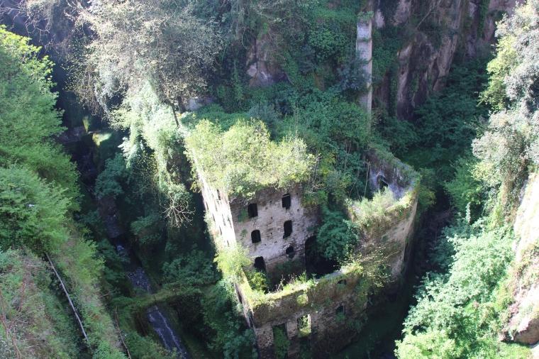 Sunken mill, Sorrento, Italy