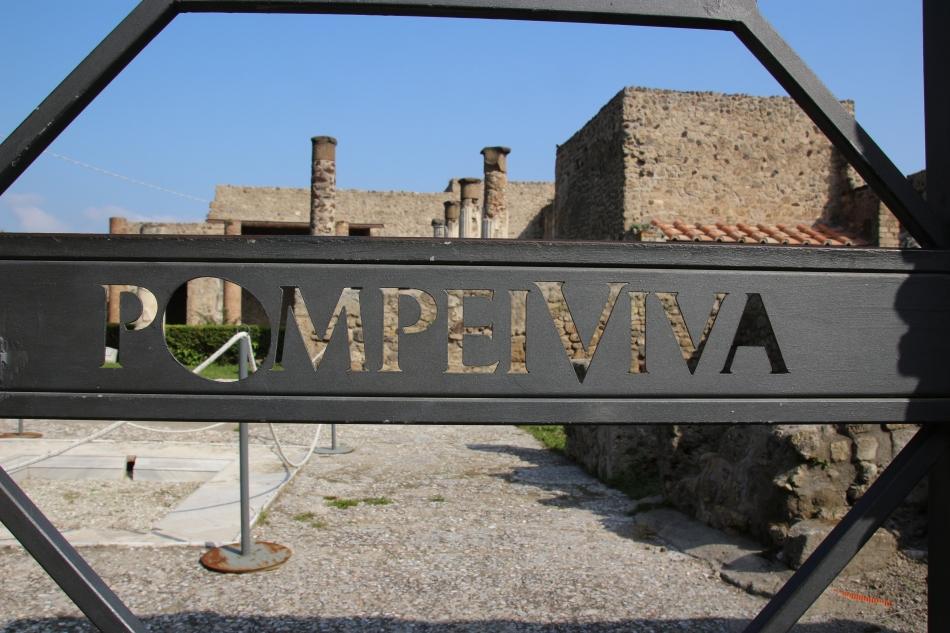 Pompeii sign, Italy