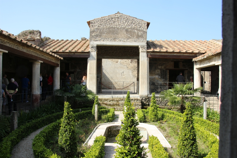 Garden within Pompeii, Italy