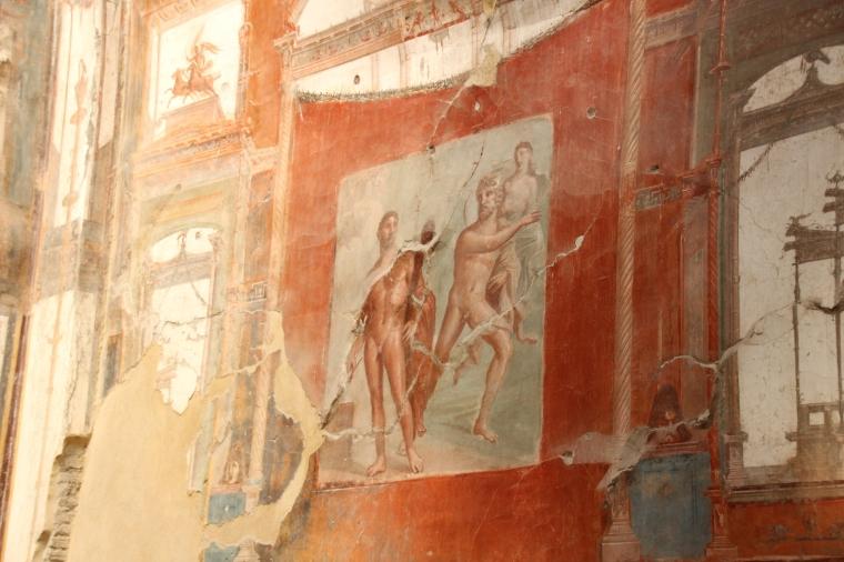 Original wall in Herculaneum, Italy