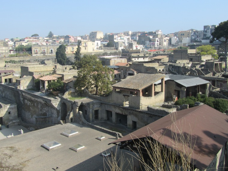 The rooftops of Herculaneum, Italy