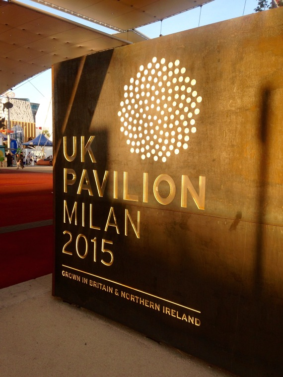 Sign for the UK pavilion Milano Expo 2015