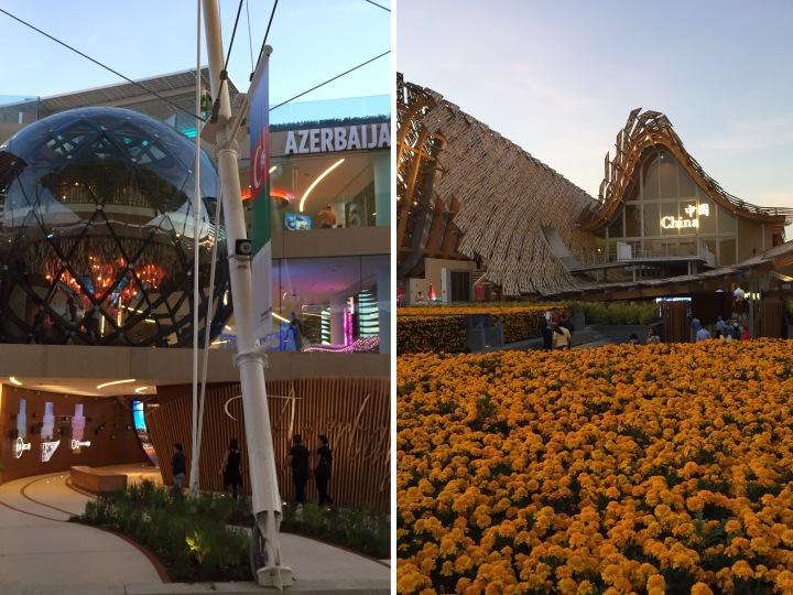 2 of the many pavilions Milano Expo 2015