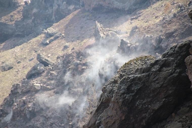 Smouldering Mt Vesuvius, Italy