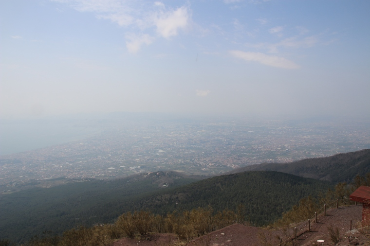 View from Mt Vesuvius, Italy