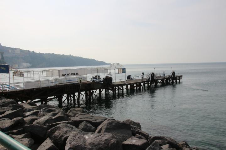 Pier in Sorrento, Italy
