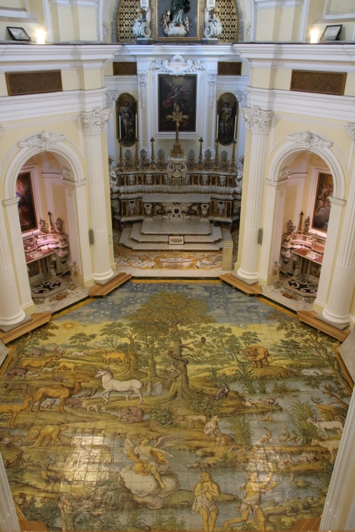 Gorgeous floor that you cannot walk on at San Michele church, Ana Capri, Italy
