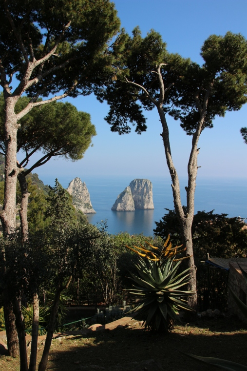 Rock Formation of the coast of Capri, Italy