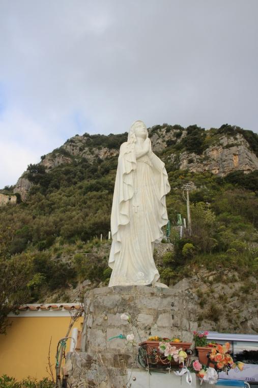 Statue above Positano, Italy