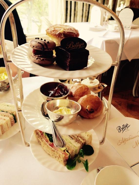 Afternoon tea at Betty's Tearoom, Harrogate