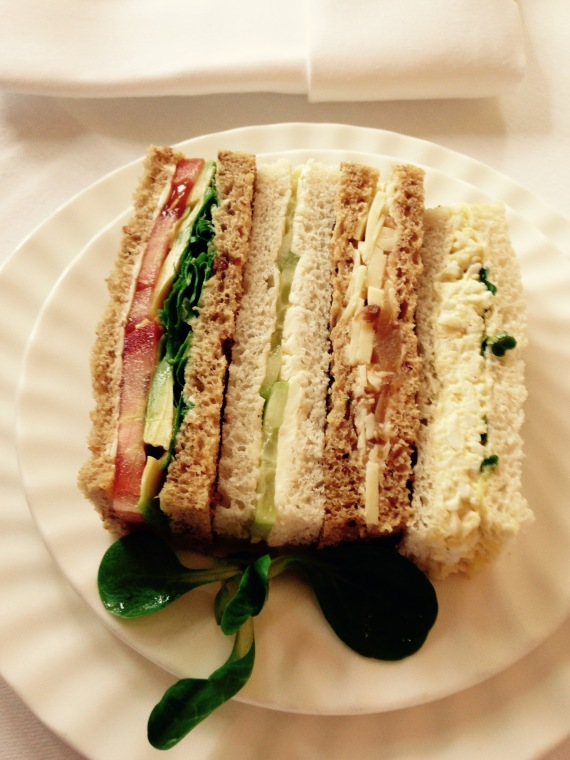 Selection of Vegetarian sandwiches at Betty's Tearoom, Harrogate