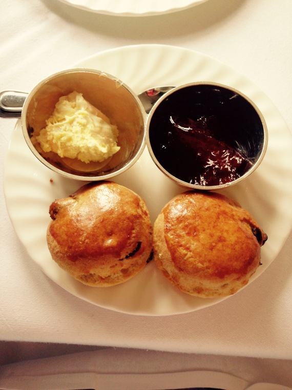 Fresh warm scones at Betty's Tearooms, Harrogate