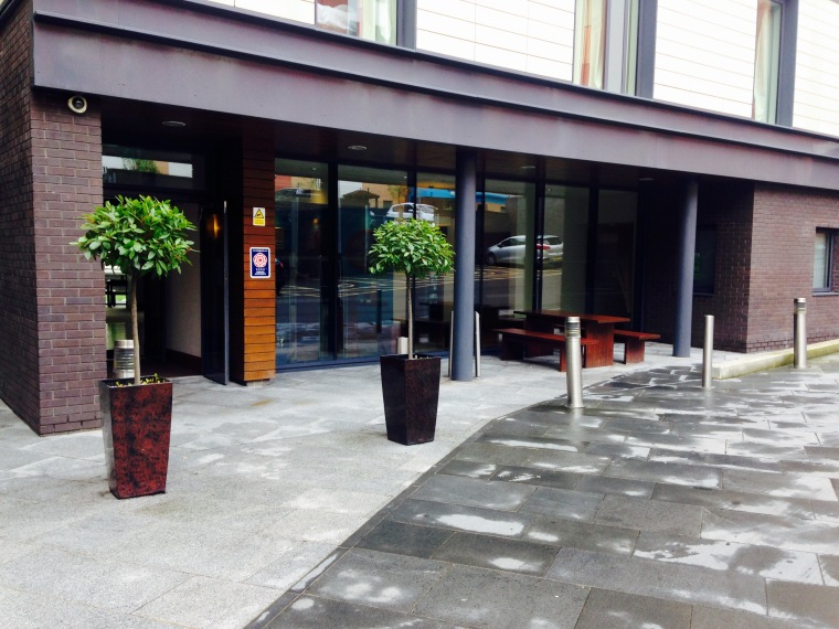 Entrance of The Staybridge Suites, Newcastle