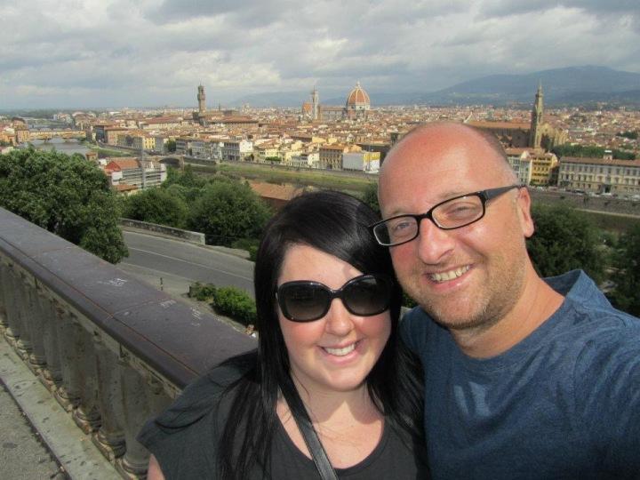 Mr ESLT & I in Florence, Italy