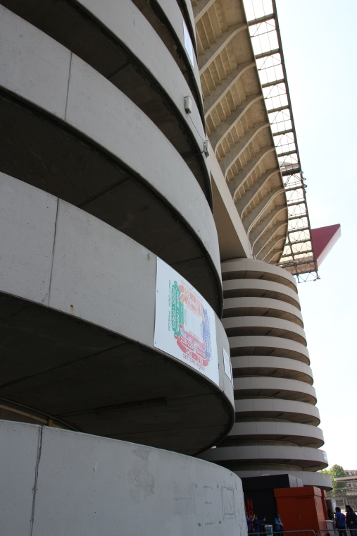 Spiral walkways at the San Siro Stadium, Milan