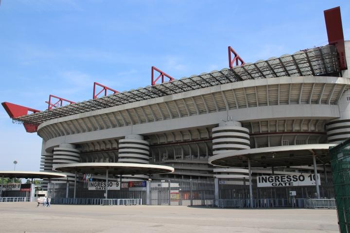 The San Siro Stadium, Milan is impressive