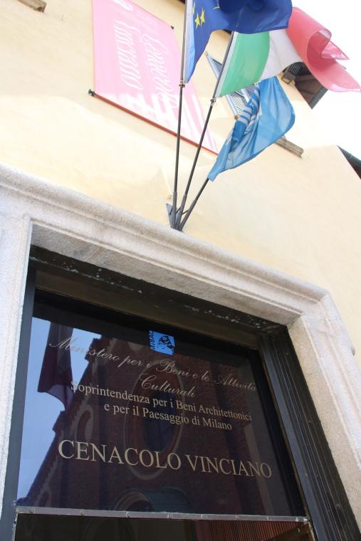 Sign at Santa Maria Delle Grazie, Milan
