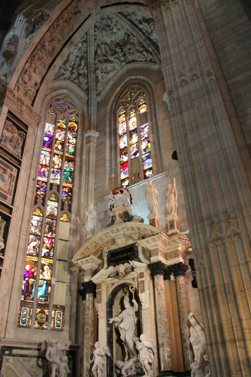 Beautiful side alter in Milano Duomo, Italy