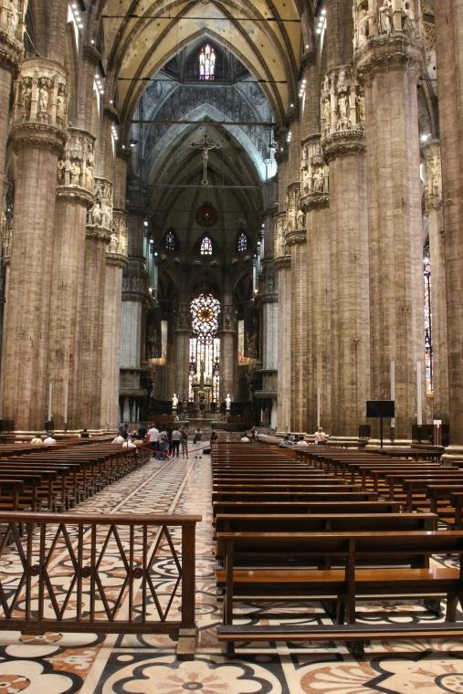 Inside the Milano Duomo, Italy