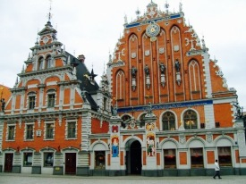 Beautiful Latvian buildings in Riga