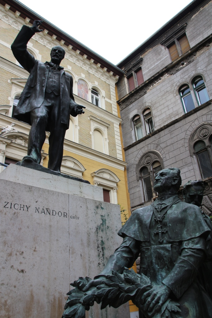 The statue of Zichy Nándor outside the Hotel Palazzo Zichy, Budapest