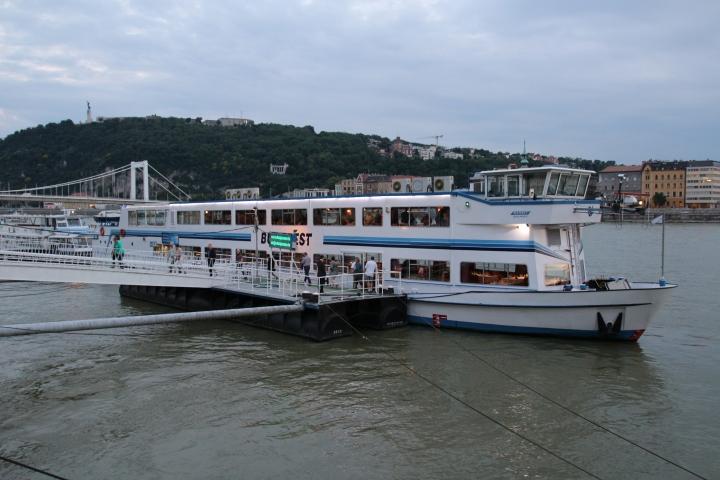 Evening Danube River Cruise boat, Budapest