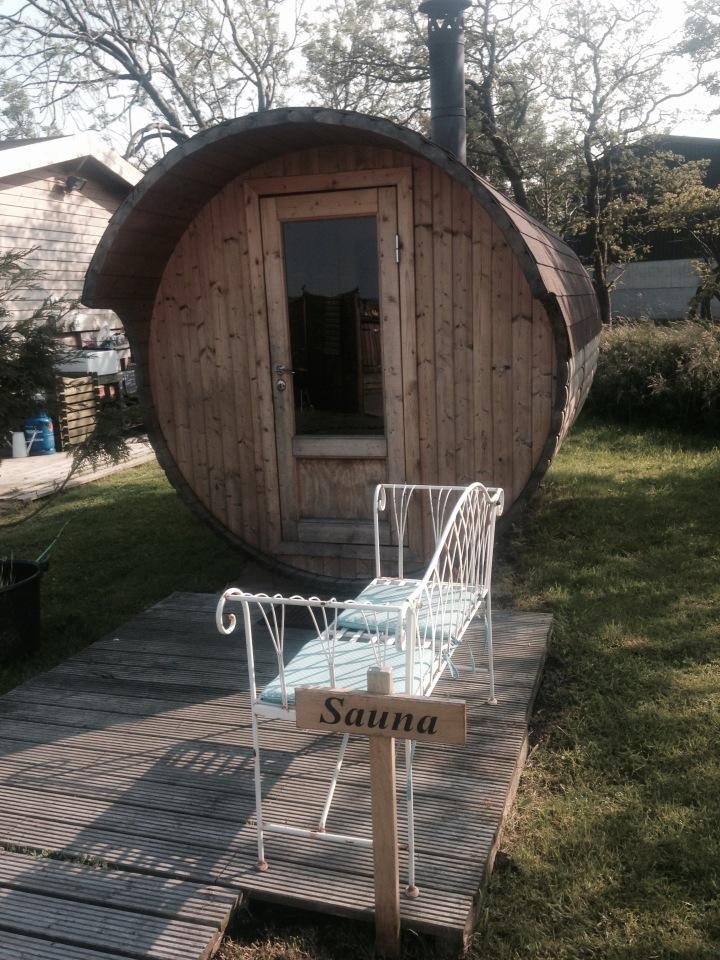 Sauna at Secret Cloud House Holidays Glamping site