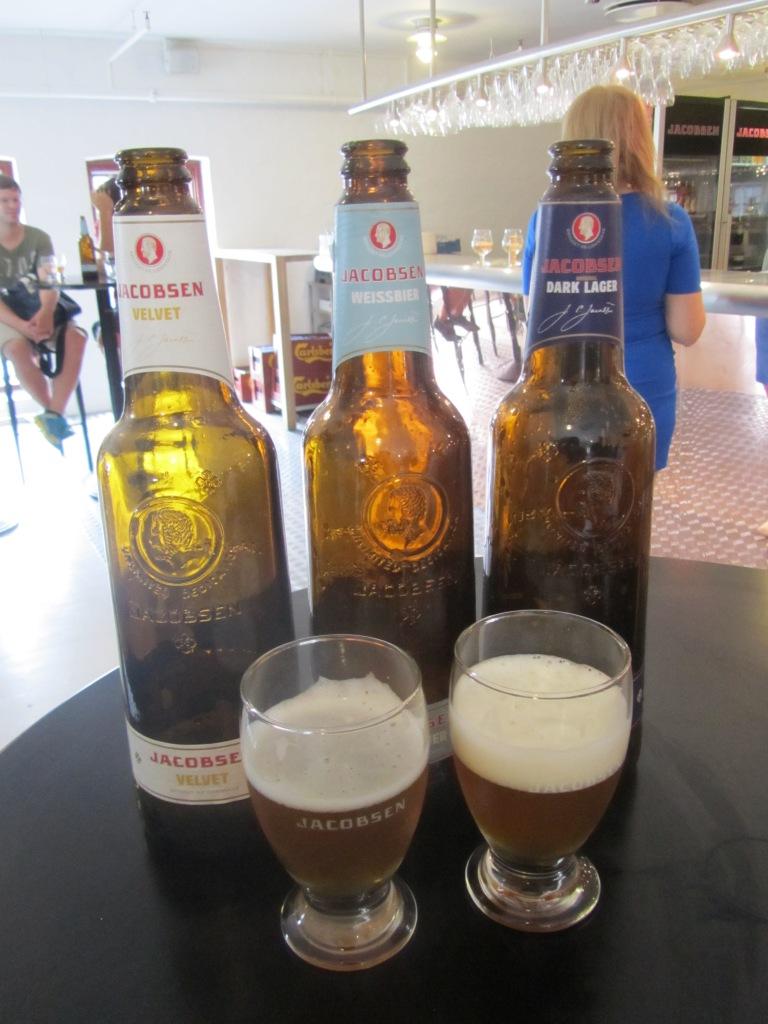 Beer tasting at Visit Carlsberg in Copenhagen, Denmark