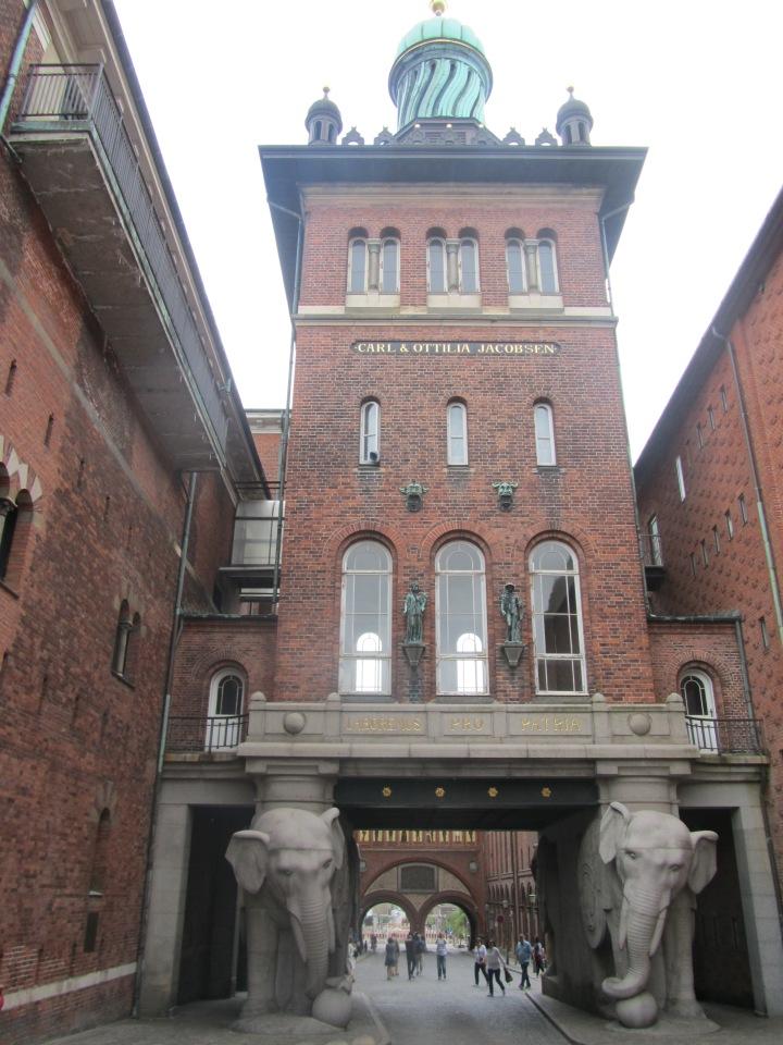 Exit at Visit Carlsberg in Copenhagen, Denmark