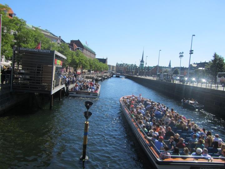 Canal cruise boat in Copenhagen, Denmark