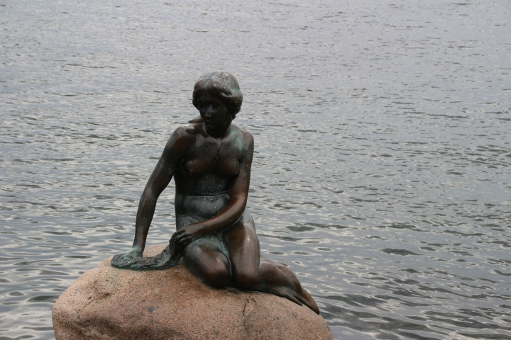The Little Mermaid in Copenhagen, Denmark